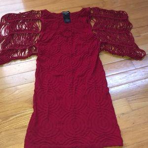 Red stretchy Bébé dress